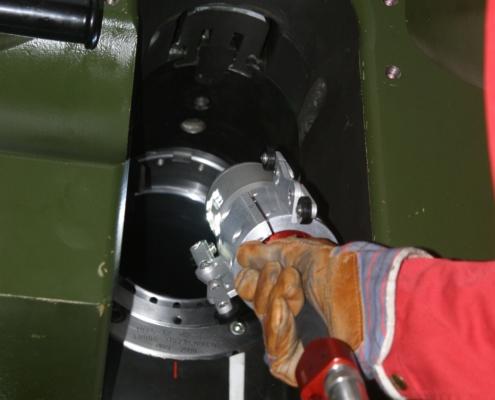 Rohrkamera im Einsatz