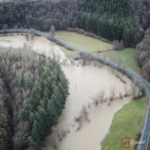 Weilufer Überschwemmung Drohnenflug