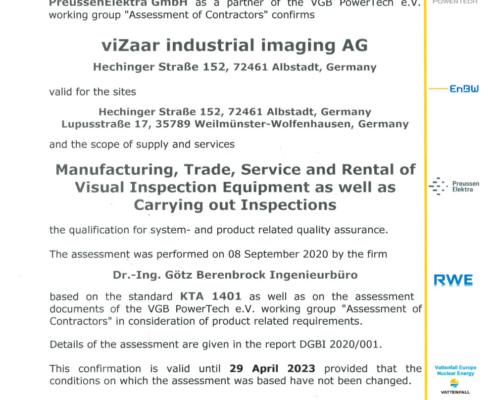 KTA-1401_EN_Confirmation-on-quality-assurance_2020