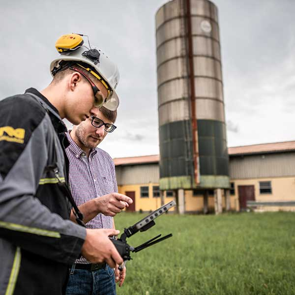 visual inspection with drones
